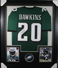 BRIAN DAWKINS (Eagles) Signed Autographed Framed Jersey w/ JSA COA 1