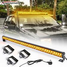 36 32 Led Amber 13 Modes Traffic Advisor Emergency Warning Strobe Light Bar Kit