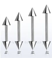 20G 316L Surgical Steel Spiked Barbell Ears Eyebrow Ring Tragus