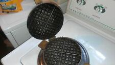 Antique Round Westinghouse Waffle Iron with Wooden Handles