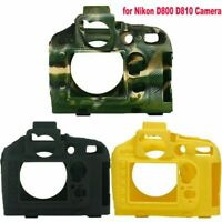 Carrying Rubber Silicon Case Body Cover Frame Parts for Nikon  D800 D810 Camera