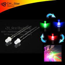 100pcs Diffused LED 3mm RGB 2 pin Flash Automatically Slow flashing led Diode
