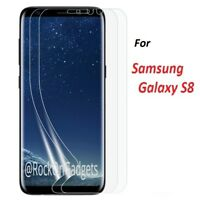 For Samsung Galaxy S8 TPU Curved Full Coverage Screen Protector Film Cover