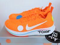 Nike Off White Zoom Fly Mercurial Flyknit Virgil Orange UK 5 7 8 10 11 US New