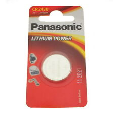 2x CR2430 3V Lithium Button Coin Cell Batteries Panasonic