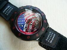 1997 Swatch Watch Access Palmer Large band SHB100L USA Flag by Shaun Palmer New