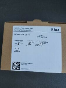 Box of 5 Drager 8403735 Spirolog Flow Sensor Transducer Evita Ventilator Series