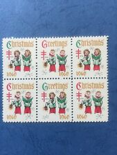 US 1960 Christmas Seal, Block of 6 Scott 7662 MNH