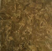 By The 1/2 Yard Quilt Quality NOS Batik Fabric Brown with Olive Tint Hoffman