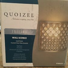 QUOIZEL Lovely Juliana Interior Wall Sconce~Gold & Crystals #0760137