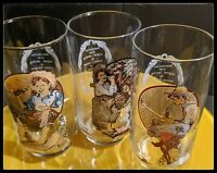 Set of 3 Coca Cola reproduction of Norman Rockwell painting glasses