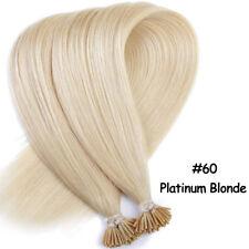 "100% Virgin Remy Human Hair Extensions I Tip Stick Black Brown Blonde 16""-22"" MY"