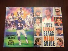 Chicago Bears Football Media Guide Press Lot 2 1991 1992 Ditka Singletary