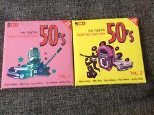 The Fabulous 50's Vol.1+2 [10 CD] 200 Tracks / Marylin Monroe Johnny Cash Elvis