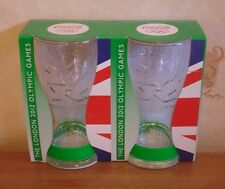 2 Coca Cola London 2012 Olympics Glasses & Green Wristbands Coke Boxed Unused