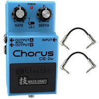 BOSS CE-2W Chorus Waza Craft Vibrato Guitar Effects Pedal Stompbox +Patch Cables