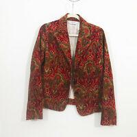 EUC Vintage Villager by Liz Claiborne Fitted Fall Corduroy Jacket Blazer Size 10