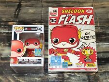 Funko Pop! & Tee Sz XL Sheldon Cooper as The Flash SDCC 2019 The Big Bang Theory