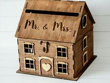 Wedding gift card box with lock House post box Wedding card holder
