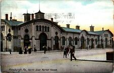 Postcard North Side Market House Pittsburgs PA 1909