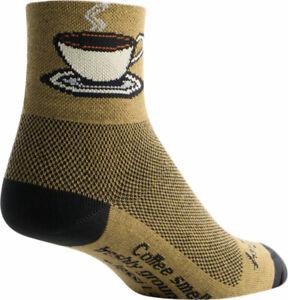 NEW SockGuy Java Sock Brown Small Medium Double Stitched Heel