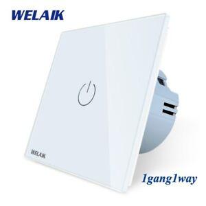 WELAIK Manufacture EU 1gang1way Wall A1911CW Light-Smart-Switch