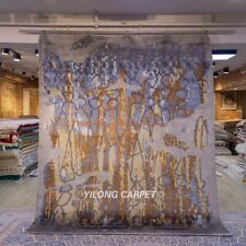 Yilong 8x10ft hand knotted wool carpets Living Room Modern Abstract Rug N71