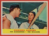 1958 Topps #321 Ted Williams NEAR MINT Boston Red Sox Ted Kluszewski FREE S/H
