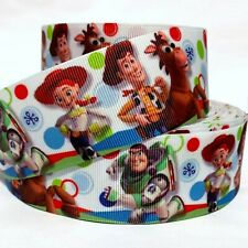 "Grosgrain Ribbon 5/8"", 7/8"", 1.5"" & 3"" Toy Story Cartoon Printed Usa Seller"