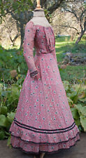 ANTIQUE DRESS c1899 SILK 2 PIECE WALKING OUTFIT