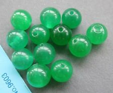 20Pcs Green Jade Beads Finding For Jewelry Making