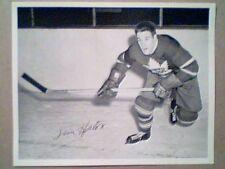 TIM HORTON  1945-54 QUAKER OATS 8 X 10 ROOKIE PHOTO
