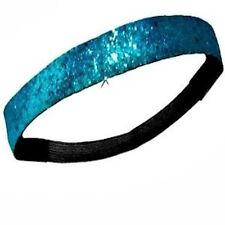 NEW! Teal Blue Glitter Headband Glittery Sport Running Softball Basketball