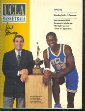 1992-93 UCLA Men's Basketball Media Guide Jim Harrick