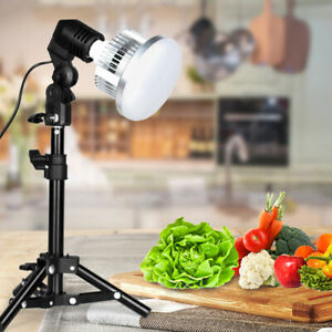 Photography LED Lamp Light Kit Studio Tripod Stand Holder For Desktop Food Shoot