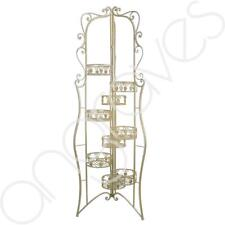 Summer Gold Metal Scroll 8 Tier Plant Pot Holder Stand Display Garden Flowers