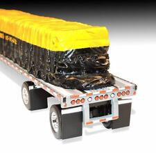 DCP WILSON BLACK YELLOW TARP LOAD FLATBED TRAILER ONLY 1/64 DIECAST 33499