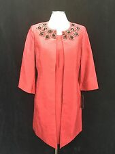 """ALBERT NIPON  DRESS SUIT/FIRE RED/NWT/SIZE 14/RETAIL$299/DRESS LENGTH 40""""/LINED"""