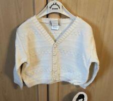 Nwt Boy's Ivory V-Neck Cardigan Sweater - Sarah Louise - size 6 mo - Sl-690