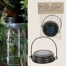 HANGING BROWN SOLAR Powered Mason Canning Ball Jar LED LID LIGHT Rustic Lamp