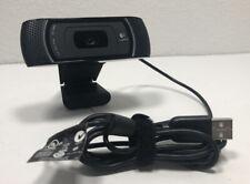 Logitech C910 Carl Zeiss Tessar 1080p HD Webcam *Tested-Works*