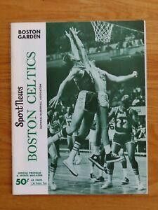 BOSTON CELTICS vs CHICAGO BULLS January 31 1968 Program JOHN HAVLICEK SAM JONES