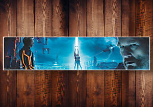 TRON LEGACY DISNEY MOVIE PHOTOGRAPHIC STYLE PANORAMIC BANNER POSTER