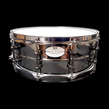 CHAOS METAL FORGE 14'' x 5.5'' BEADED BRASS SNARE DRUM LUDWIG BLACK BEAUTY MAGIC