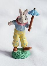 Cottontail Lane Carnival Bunny Clown Figurine Retired Midwest Of Cannon Falls