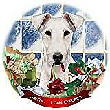 Fox Terrier White Dog Porcelain Ornament Pet Gift 'Santa. I Can Explain!'