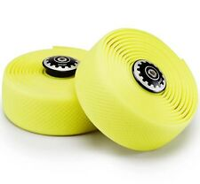 Widget Road Racing Bike Bicycle Silicone Drop Handlebar Grip Wrap Tape Yellow