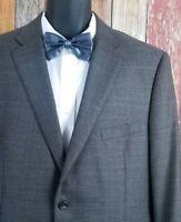 Peter Millar Men's Brown Houndstooth Wool Blazer Sport Coat Jacket 46 Regular