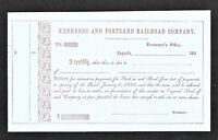 Kennebec and Portland Railroad Company - Interest Payment Converted to Stock