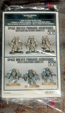 Warhammer 40K Space Marine Primaris Aggressors 3 Gravis Armor Bolters or Flamers